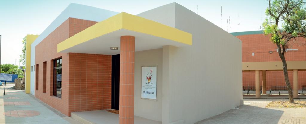 La entrada de la Sala Familiar Ronald McDonald en Ecuador.